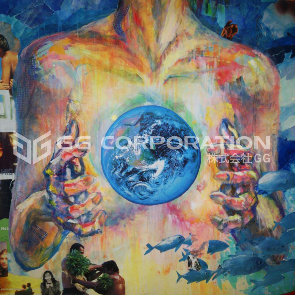 maYapaintの地球テーマ絵画作品