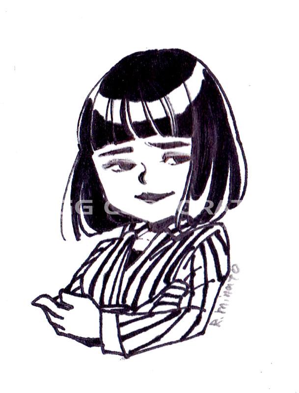 湊礼子の女性イラスト作品