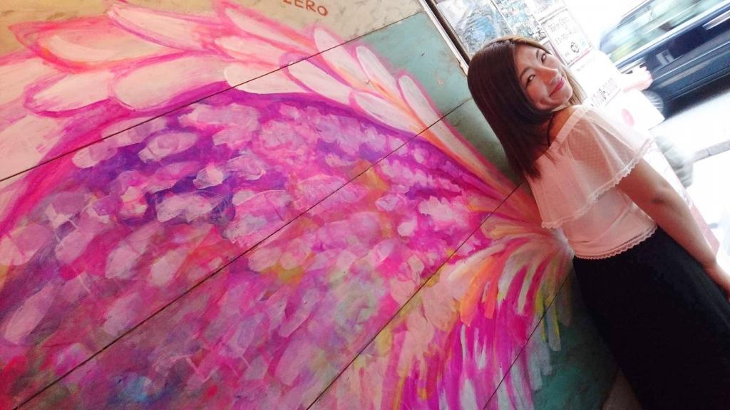 maYapaintの羽の壁 壁画作品
